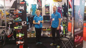 Toronto International Bike Show 2013 - Shimano Canada Booth with Shauna and John Hunter - Pearl iZUMi Cycling & Running