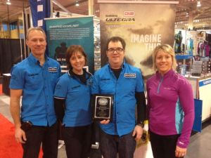 Podium Finish for Shimano Canada booth at the 2013 Toronto International Bicycle Show with 3rd place finish